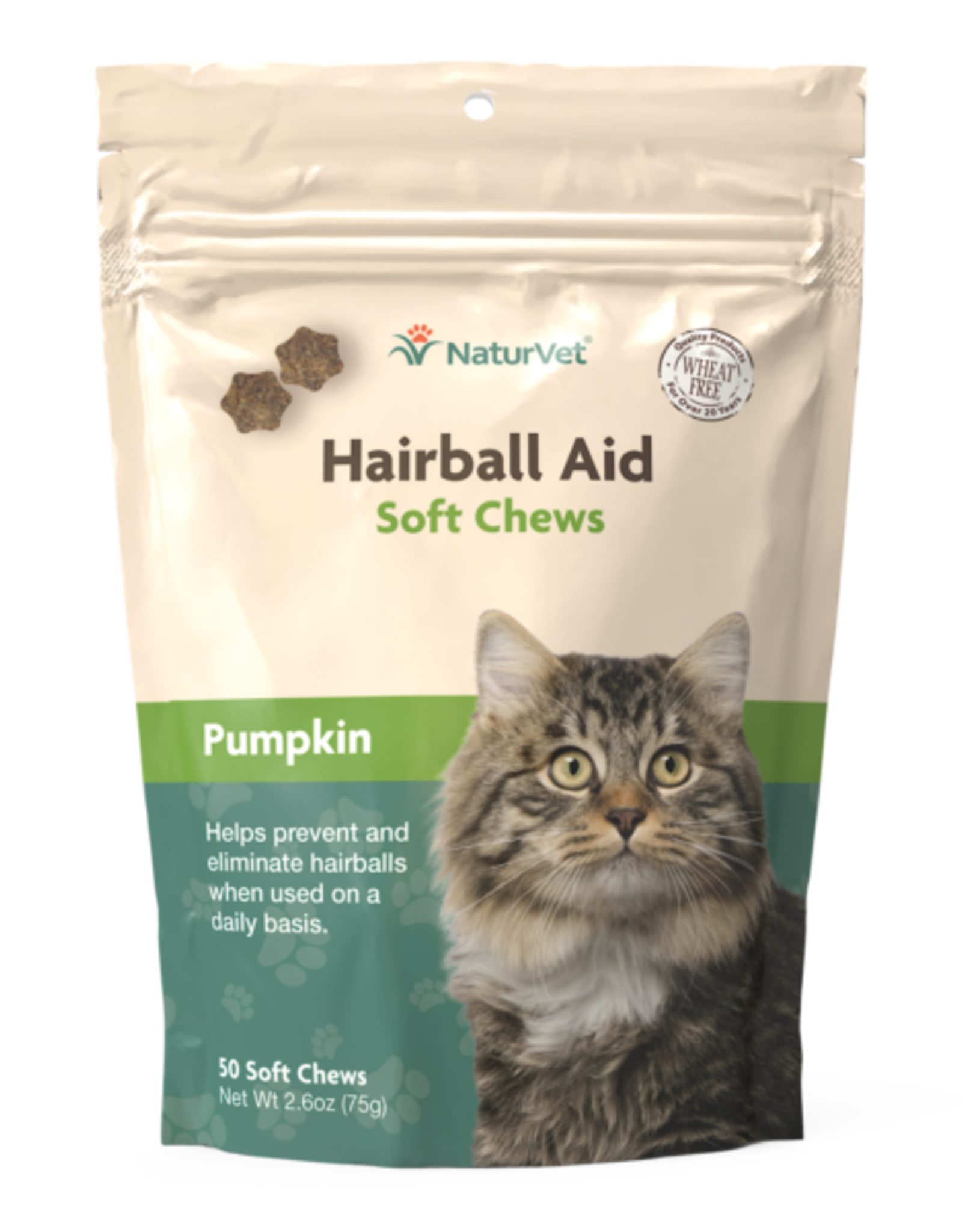 Nature's Vet Natures Vet Hairball + Pumpkin Soft Chew 50-Count