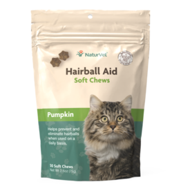 Nature's Vet Natures Vet Hairball + Pumpkin Soft Chew 50ct