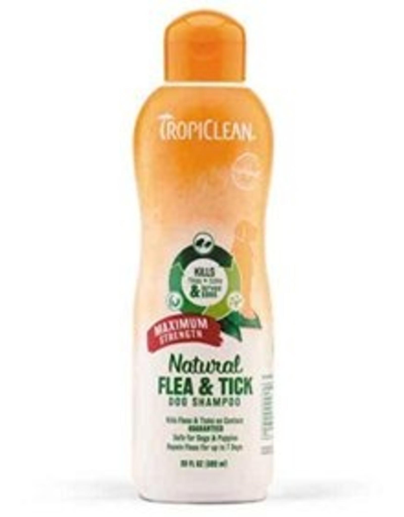 TropiClean Natural Flea Tick Shampoo plus Soothing 20z
