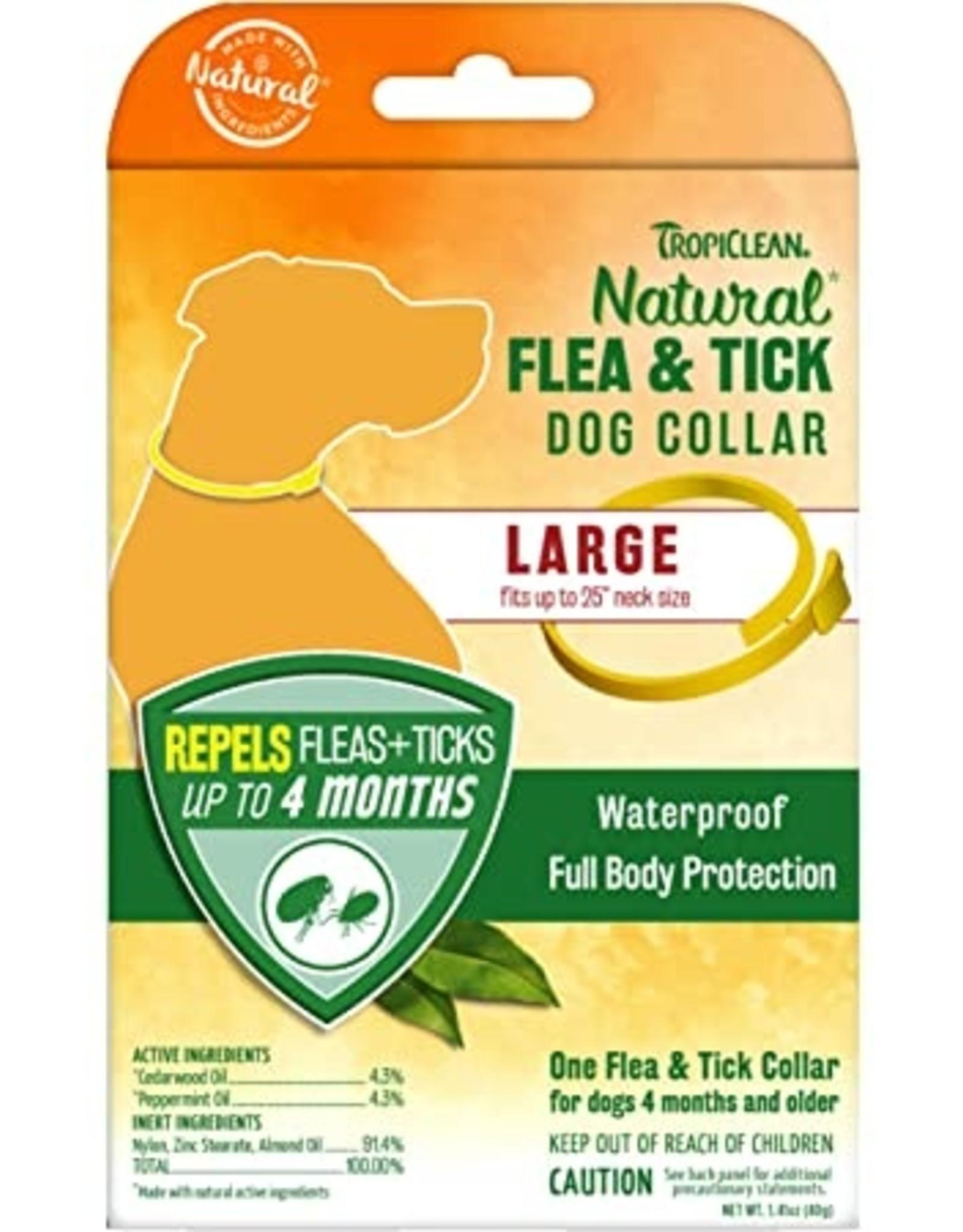 TropiClean Natural Flea & Tick Repellent Dog Collar - Large