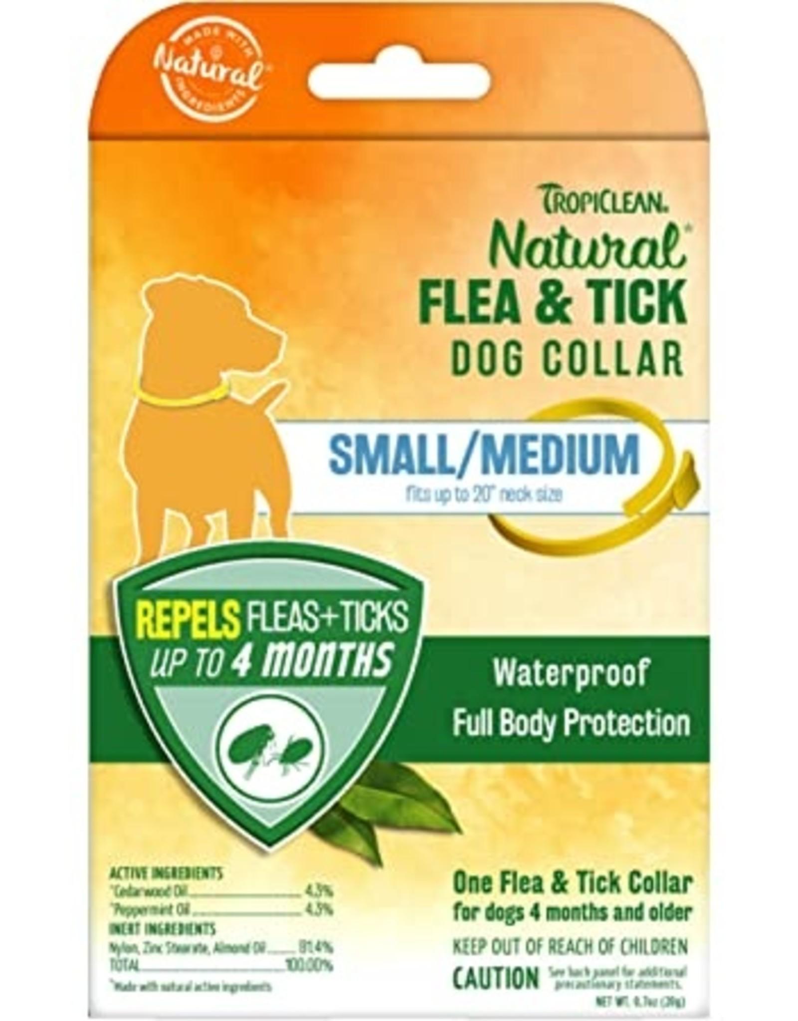 TropiClean Natural Flea & Tick Repellent Dog Collar - Small & Medium