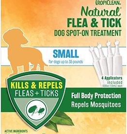 TropiClean Natural Flea & Tick Spot On Treatment for Dogs 0.2 fl oz, 4 ct SM