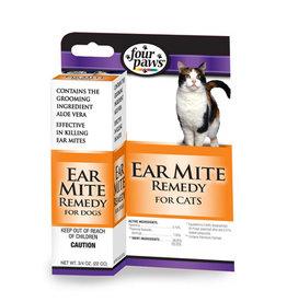 Four Paws Four Paws Aloe Ear Mite Treatment for Cats 3/4 oz
