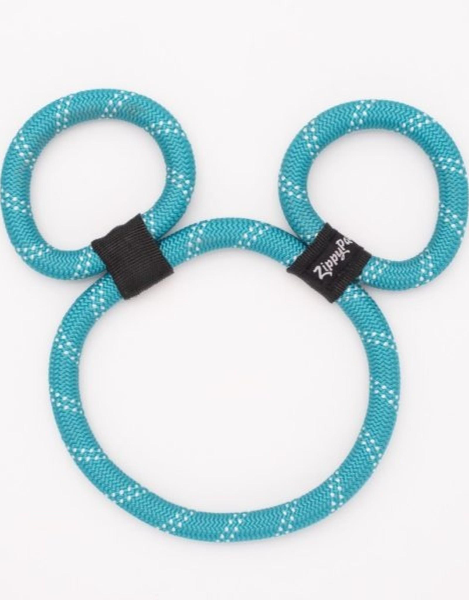 ZippyPaws Zippy Rope - Teal Bear