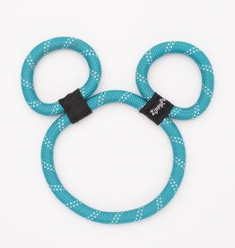 ZippyPaws Zippy Rope - Teal Bear