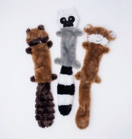 ZippyPaws Skinny Peltz 3-Pack Large (Chipmunk, Lemur, Monkey)