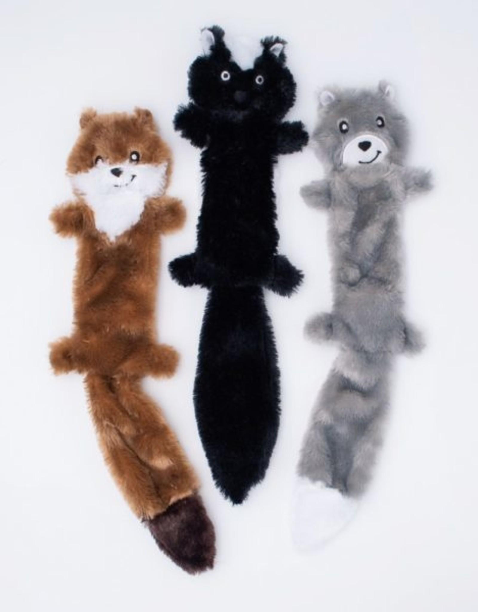 ZippyPaws Skinny Peltz 3-Pack Large (Weasel, Skunk, Wolf)