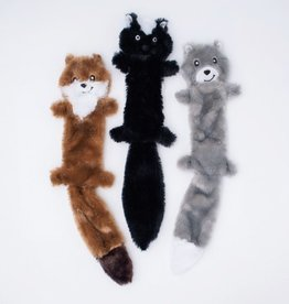 ZippyPaws Skinny Peltz 3-Pack Large (Weasel, Skunk, Wolf)