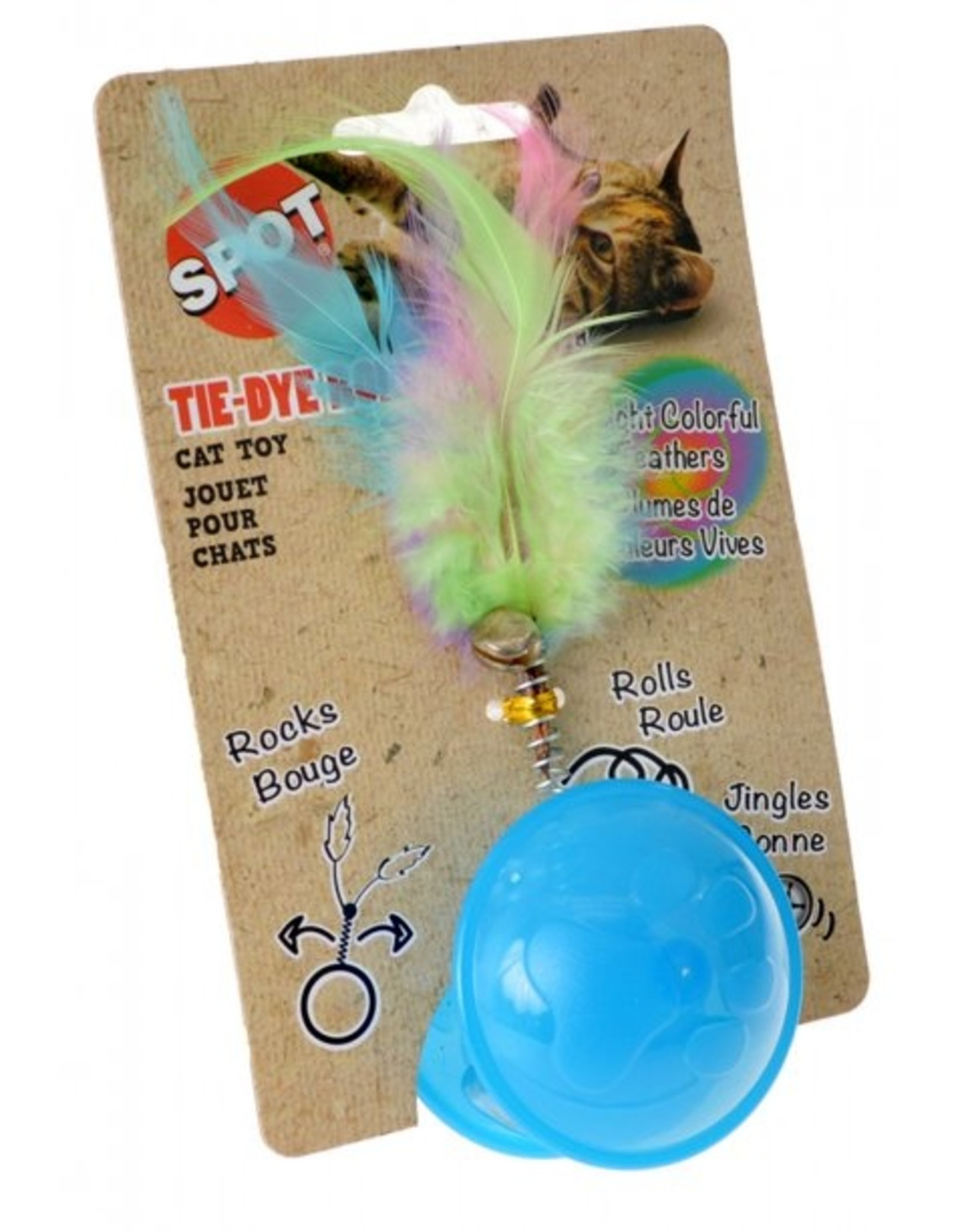 Tie Dye Roller Ball Catnip Toy Assorted 1ea/6 in