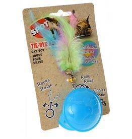 Spot Tie Dye Roller Ball Catnip Toy Assorted 1ea/6 in