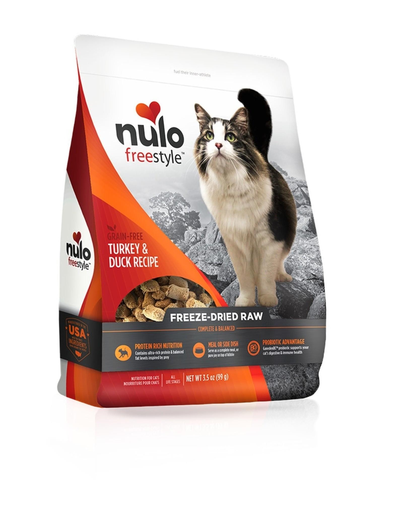 Nulo Freeze Dried Raw Grain Free Turkey & Duck CAT Food 3.5 oz