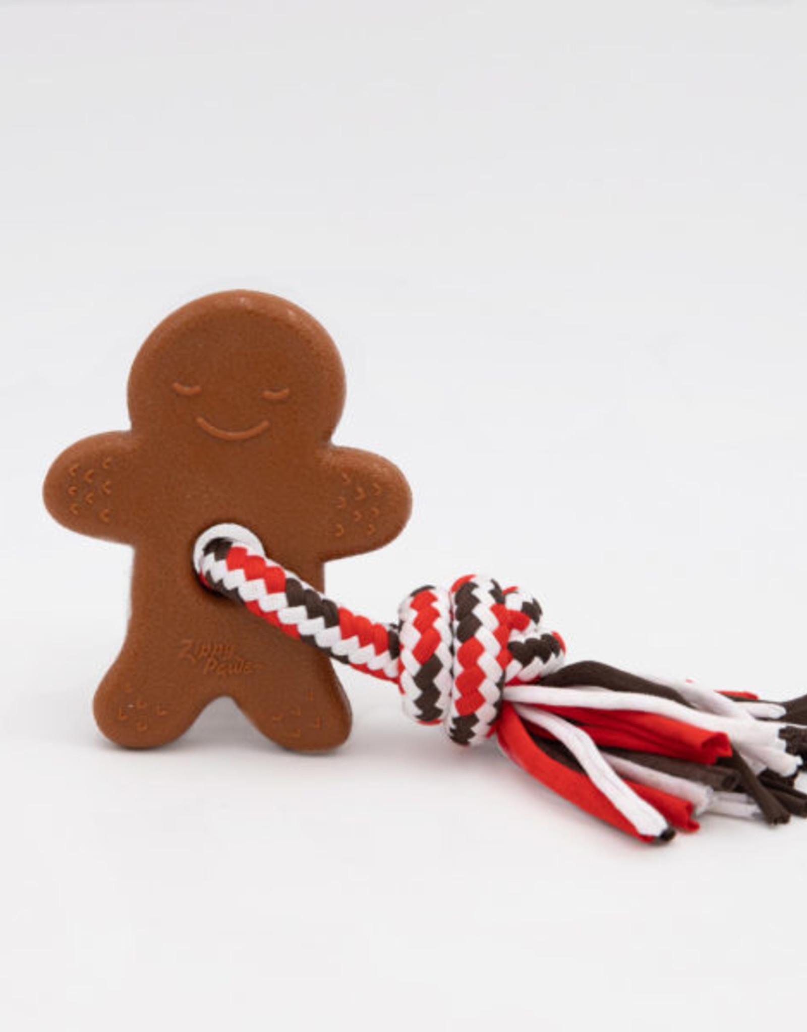 ZippyPaws Holiday ZippyTuff Teether - Gingerbread Man