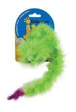 JW Pet Featherlite Catnip Boa Squeaky Cat Toy Green