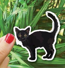 Bee Beachey Designs Black Cat Sticker