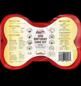 Cake Mix Birthday Cake w/ Frosting & Candle, Banana