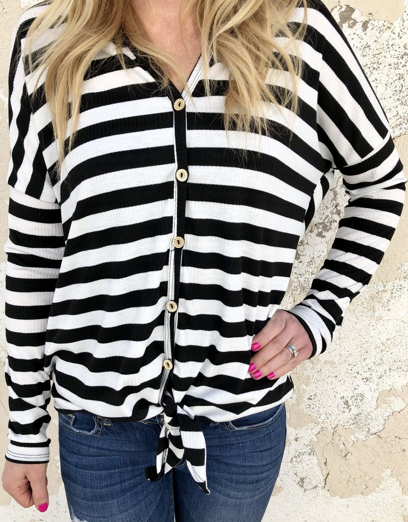 Beth Striped Button Down