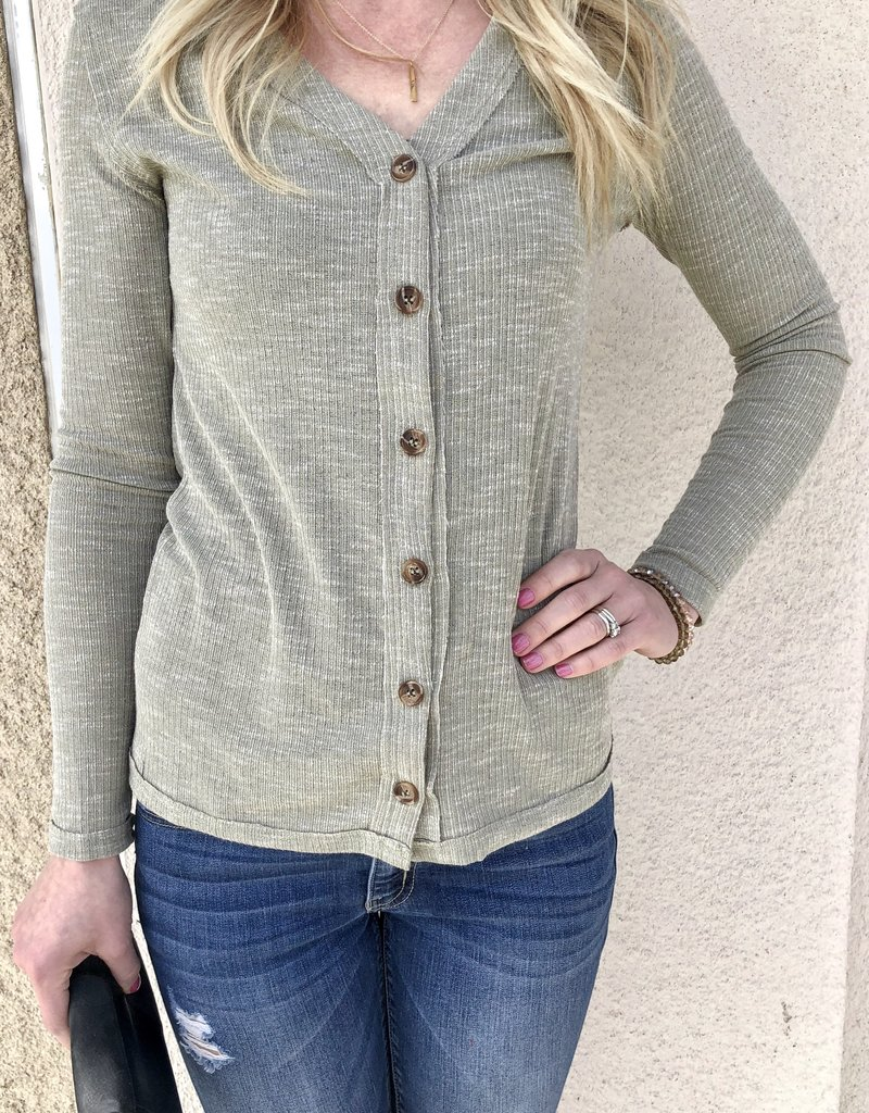 Amber V-Neck Button Top