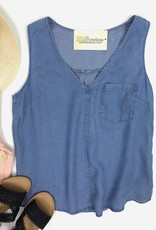 Skyler Denim Tank Top