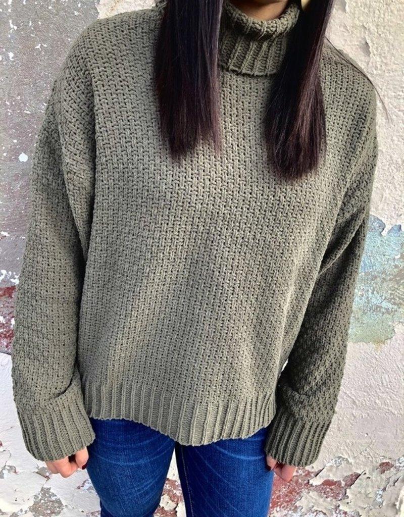 Rag Poets Lucia Cowl Neck Sweater