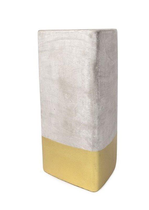 Paddywax Urban Concrete Triangle Candle {28oz}