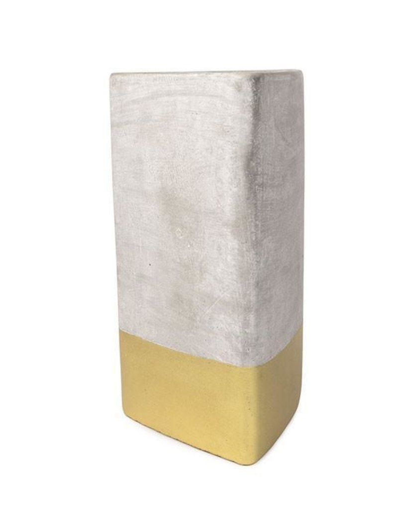 Paddywax Urban Concrete Triangle Candle {28oz}