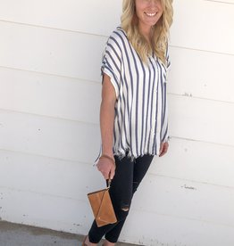 Edgy Stripe Top