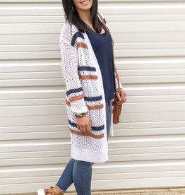 Striped Sweater Cardigan