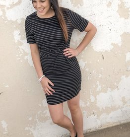 Stripe Form Dress
