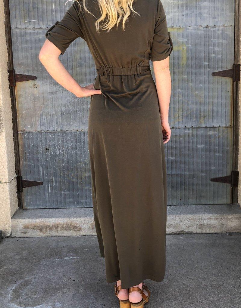 Button Detail Maxi Dress