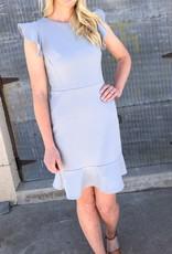 Ruffles Cap Sleeve Dress