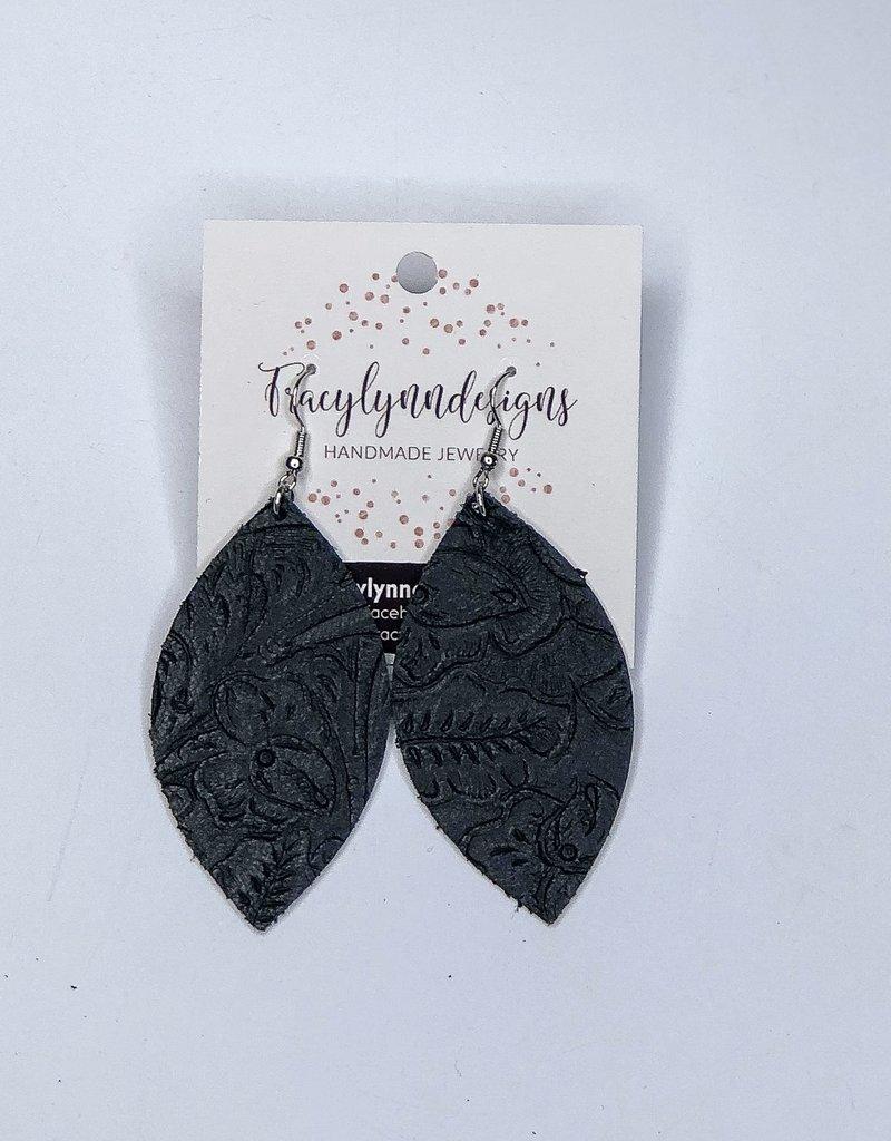 Tracy Lynn Designs Saddle Leaf Earring