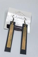 Tracy Lynn Designs Gold Bars Earrings
