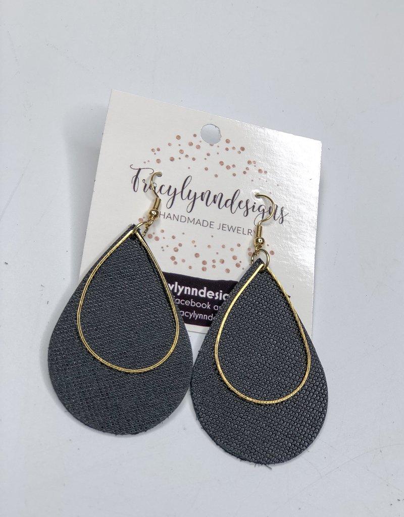 Tracy Lynn Designs Metal Large Teardrop Earring
