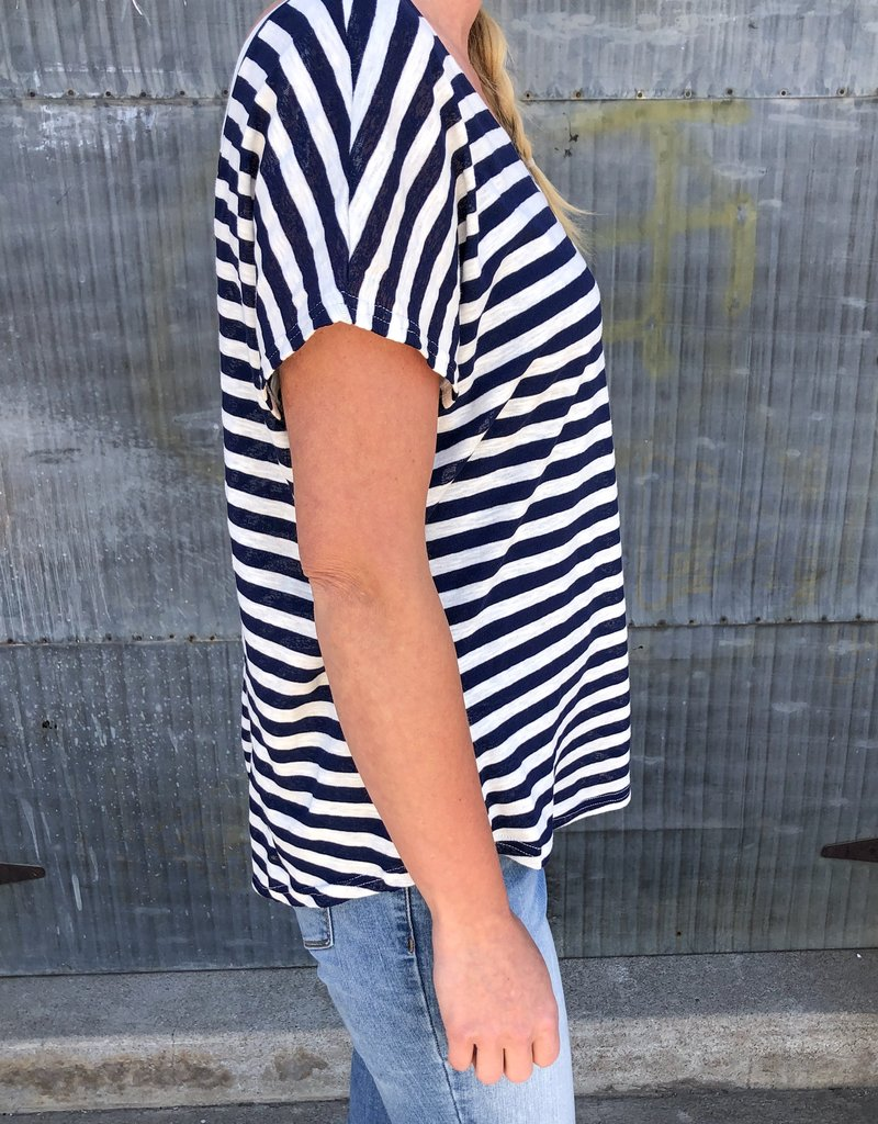 Lena Stripe V-Neck Top