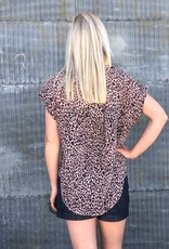 Leopard Collared Top