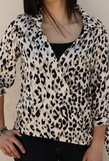 Hi Lo Leopard Print Top