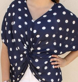 Polka Dot Knot Top