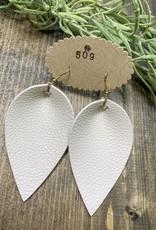 Leather Leaf Earring