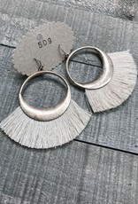 Metal Ring Fringe Earring