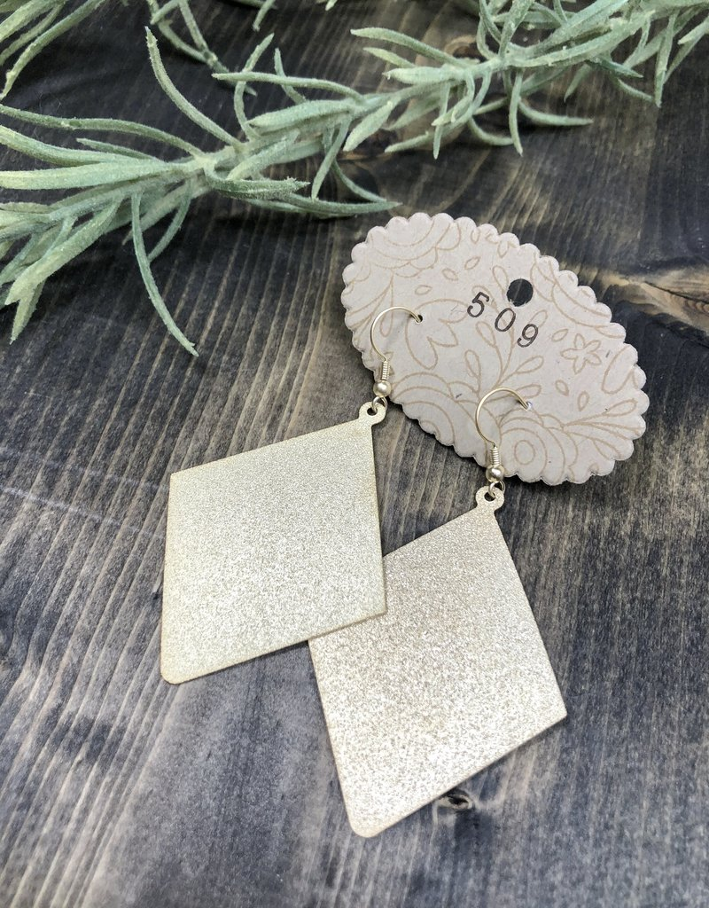 Textured Rhombus Earrings