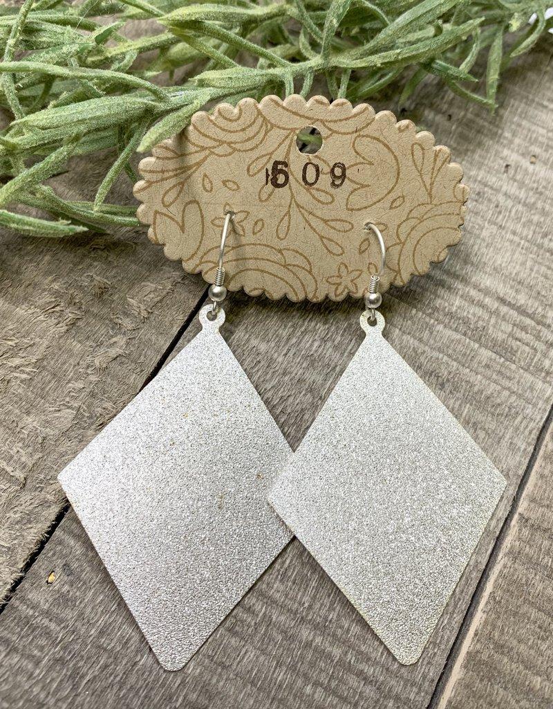 Textured Rhombus Earrings