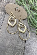 Linked Scratch Earrings