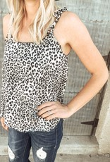 Sleeveless Printed Leopard Top