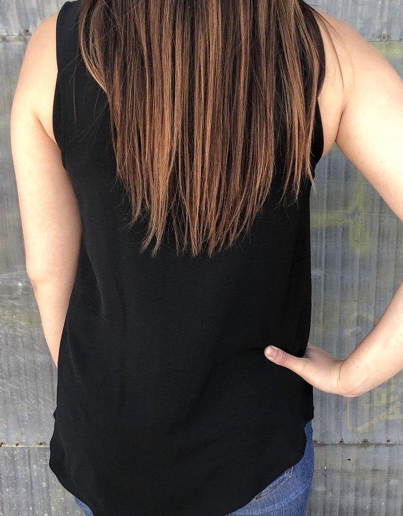 Solid Sleeveless V-Neck Top