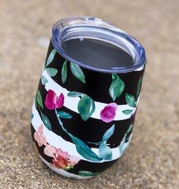 Wine Tumbler |Black Stripe|