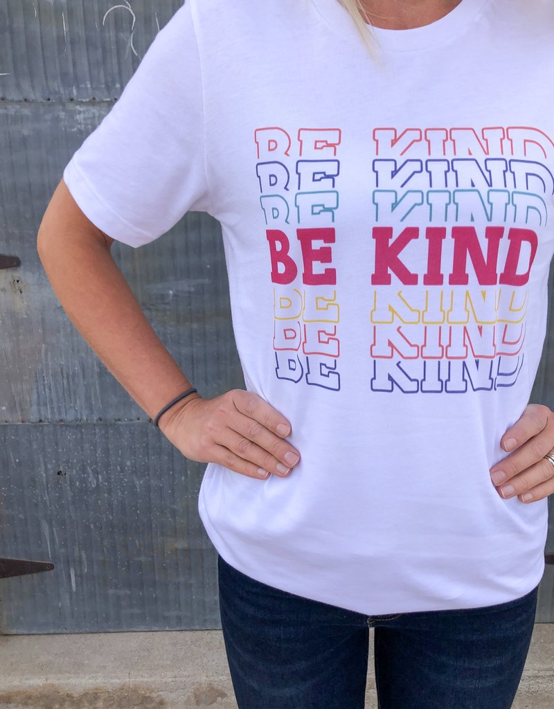 Be Kind Colorful Crew Neck Tee