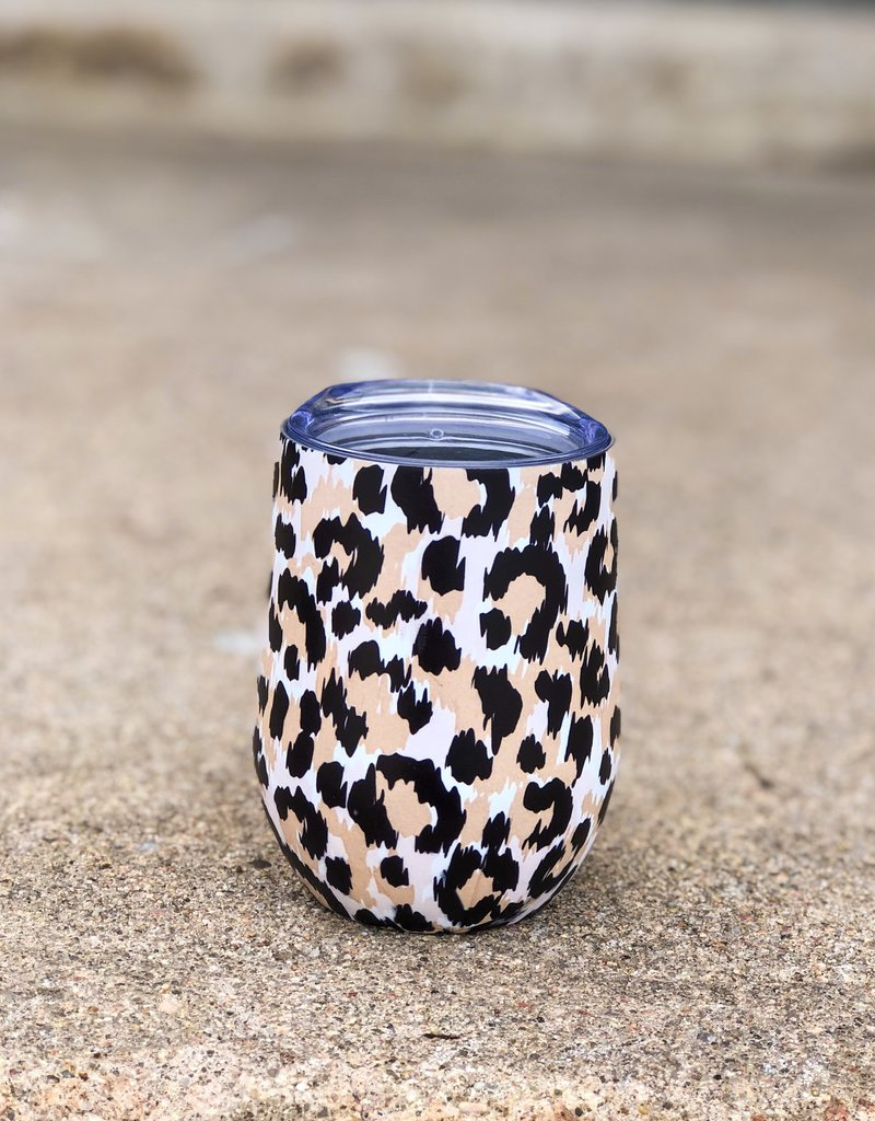 Wine Tumbler |Leopard|