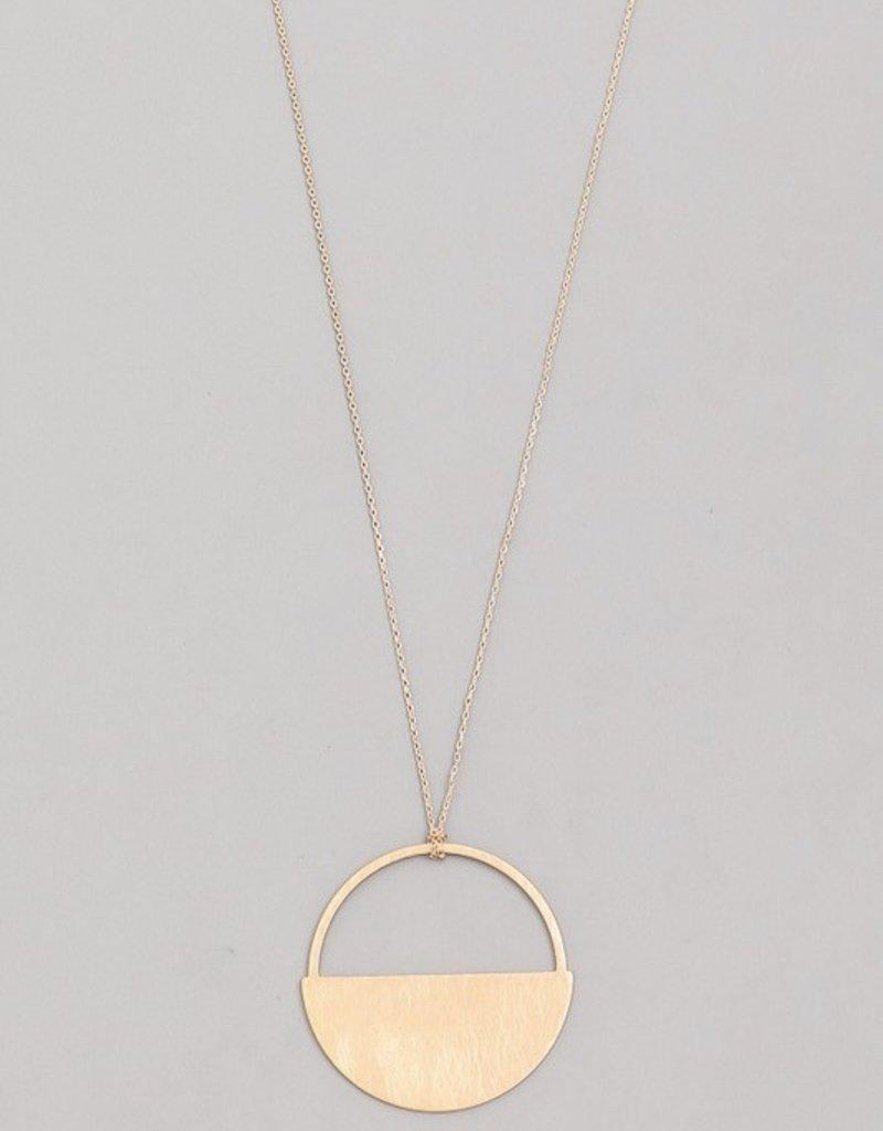 Brushed Semi Circle Necklace