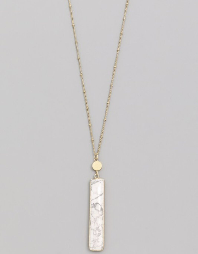 Stone Bar Pendant Necklace