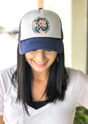Trucker Hat|Navy Floral Mama|